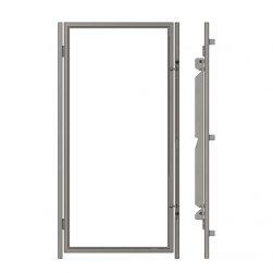 Portes d'enclos vitrées sans cadre