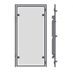 Full Frame Kennel Doors with Glass