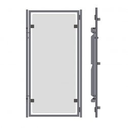 Glass Kennel Doors Without Top and Bottom Frame