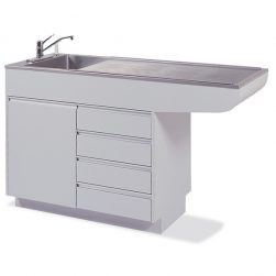 Veterinary Prep-Procedure Tables with Cabinet