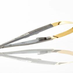 "Castroviejo Needle Holder, Straight 5 1/2"" Tungsten Carbide"